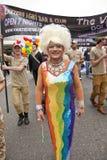 Transvestite representing Vaults Nightclub Royalty Free Stock Image