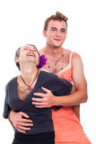 Transvestites having fun Stock Image
