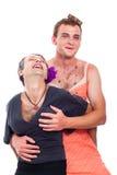 Transvestites having fun stock image