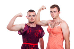 Transvestites showing biceps Stock Photo