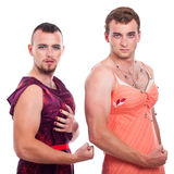 Transvestites showing muscles Royalty Free Stock Photo
