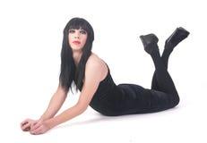 Transvestitmann im Kleid Stockbilder