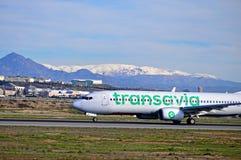 Transvia Aircraft Alicante Airport Stock Photos