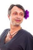 Transwestyta mężczyzna ono uśmiecha się obrazy stock