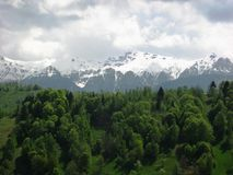 Transylvania Fagaras berg arkivfoto