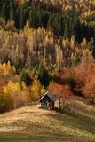 Transylvania landscape in autumn time , Romania country side royalty free stock image