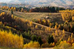 Transylvania landscape in autumn time , Romania country side royalty free stock photography