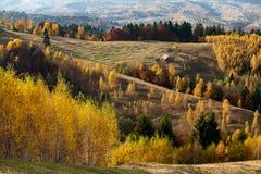 Transylvania landscape in autumn , Romania country side stock photography