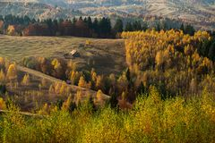 Transylvania landscape in autumn time , Romania country side royalty free stock photo