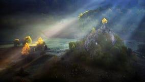 Transylvania remote village in the Carpathian mountains Stock Photo