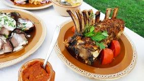 Transylvanian传统食物盘 图库摄影