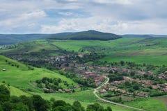 Transylvanian村庄(Cetatea de Balta),罗马尼亚 免版税库存照片