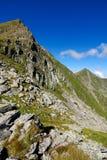 Transylvanian Alps in Romania, Carpathian ridge Royalty Free Stock Photo