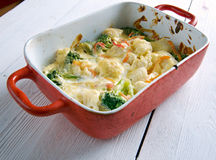 Transylvanian Cauliflower Casserole Stock Photos