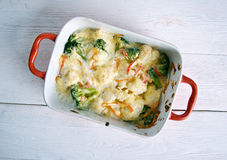 Transylvanian Cauliflower Casserole Royalty Free Stock Photos