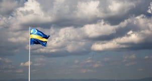 Transylvanian flagga Arkivbild