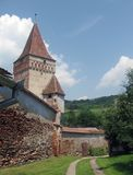 Transylvanian ha fortificato la chiesa Fotografie Stock