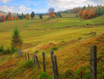 Transylvanian landscape. Typical Transylvanian landscape in autumn Stock Photography