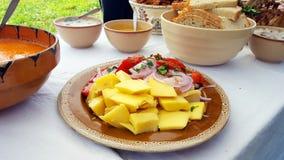 Transylvanian tradycyjny karmowy naczynie Fotografia Stock