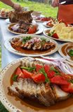 Transylvanian tradycyjny karmowy naczynie Zdjęcie Royalty Free