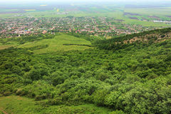 Transylvanian village. In a mountainous region Royalty Free Stock Photo