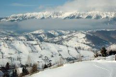 transylvanian vinter Arkivbild