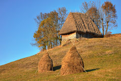 Transylvanian Wooden Cottage Stock Photography