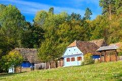 Transylvanianhuizen en cultuur, Astra Ethnographic Museum in Sibiu, Roemenië stock foto