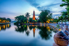 Tranu Quoc pagoda Fotografia Royalty Free