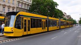 Tranvía amarilla Fotos de archivo libres de regalías