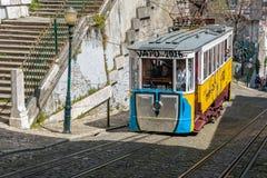 Tranvía amarilla de Lisboa Foto de archivo libre de regalías