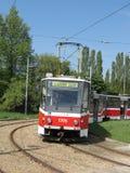 Tranvía de Brno Foto de archivo libre de regalías