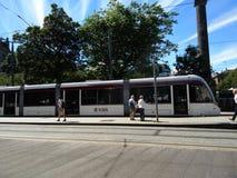 Tranvía de Edimburgo imagenes de archivo
