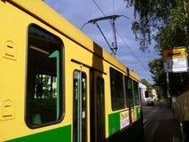Tranvía de Helsinki del transporte público Fotos de archivo