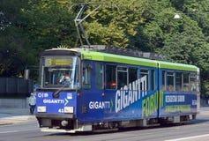 Tranvía de Helsinki del transporte público imágenes de archivo libres de regalías