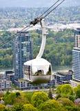 Tranvía de la antena de Portland Oregon imagen de archivo