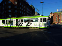 Tranvía de la ciudad de Helsinki Fotografía de archivo