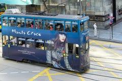 Tranvía de la ciudad en Hong Kong Imágenes de archivo libres de regalías