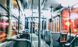 Tranvía de la noche Imágenes de archivo libres de regalías