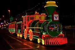 Tranvía de las iluminaciones de Blackpool foto de archivo libre de regalías