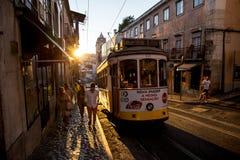 Tranvía de Lisboa, Portugal Imagen de archivo libre de regalías