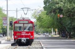 Tranvía de Mendoza Imagen de archivo libre de regalías
