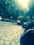 Tranvía de Milán Fotografía de archivo