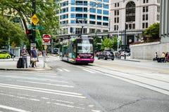 Tranvía de Seattle Foto de archivo libre de regalías