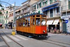 Tranvía de Soller del vintage, Majorca Foto de archivo