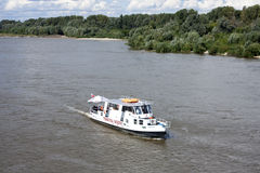 Tranvía del agua en Varsovia Foto de archivo libre de regalías