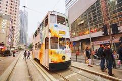 Tranvía del autobús de dos pisos foto de archivo libre de regalías