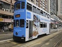 Tranvía del autobús de dos pisos en Hong Kong Foto de archivo libre de regalías