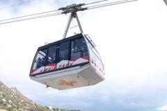 Tranvía del pico de Sandia en Albuquerque New México imagen de archivo