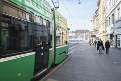 Tranvía en Basilea, Suiza Fotografía de archivo